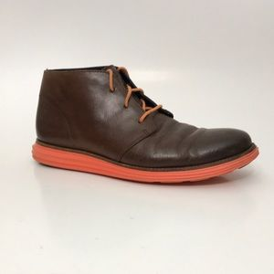 Cole Haan Lunargrand Chukka Boots Leather Upper